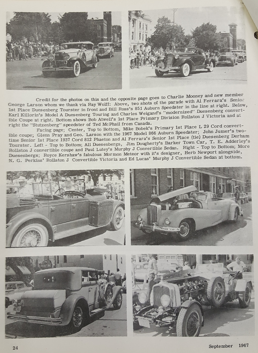 From the Auburn Reunion special issue of the ACD Newsletter depicting our Model A Duesy. Fifty years ago!