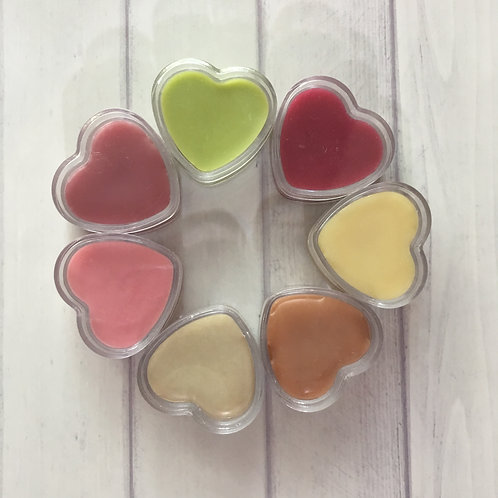 Natural handmade skincare: only four ingredients in our skin smoothing lip balms.