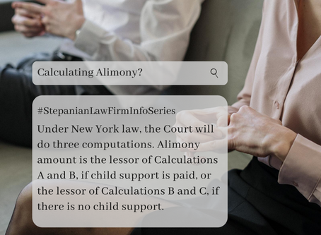 How Do We Calculate Alimony in NYC?