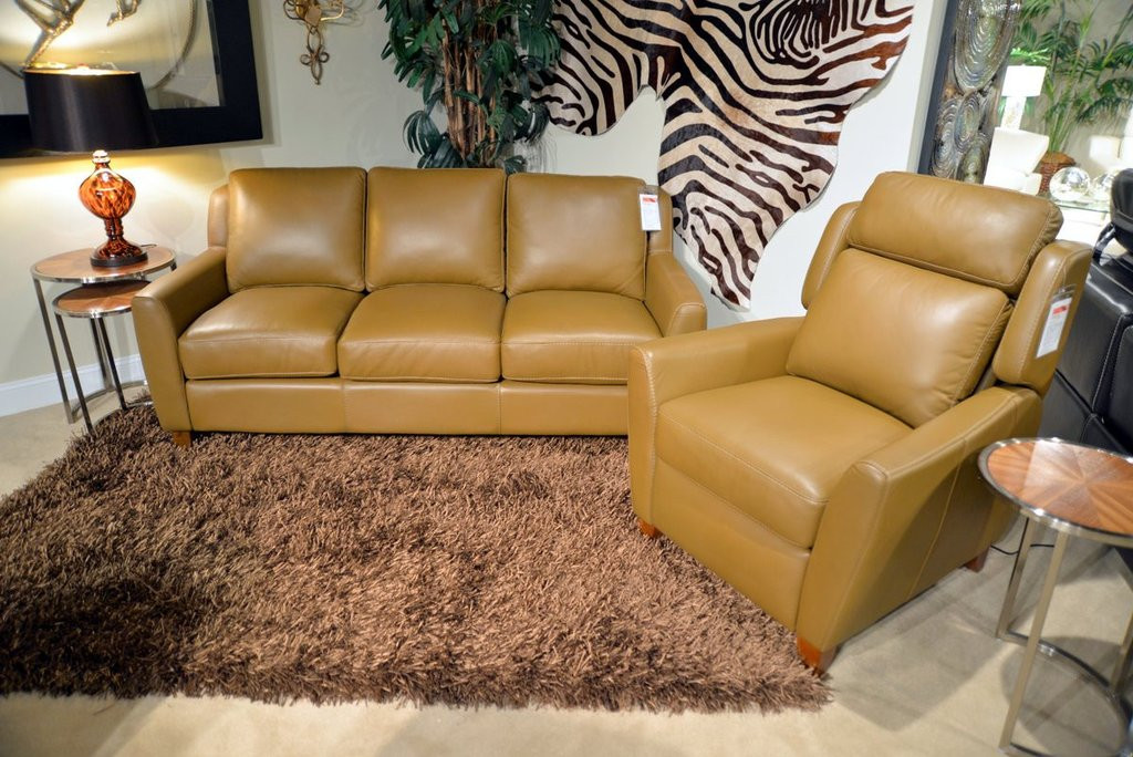 Pavia Sofa & Push Back Recliner