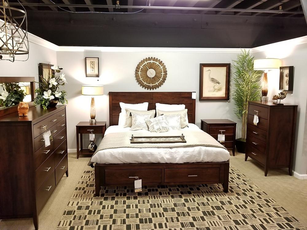 Contemporary Amish Bedroom Set
