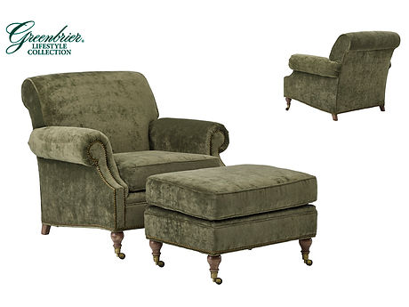 Springhouse Lounge Chair & Ottoman