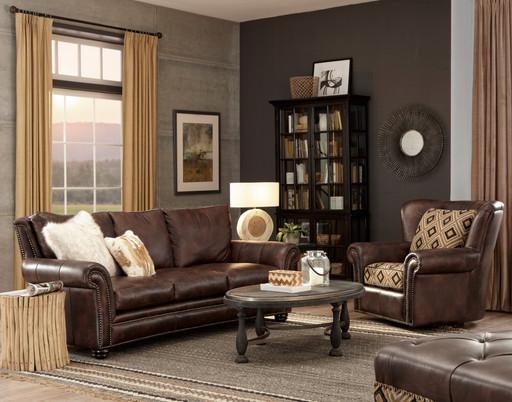 Kaymus Sofa in Dark Brown