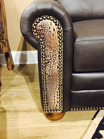 Designer Leather Arm Panel