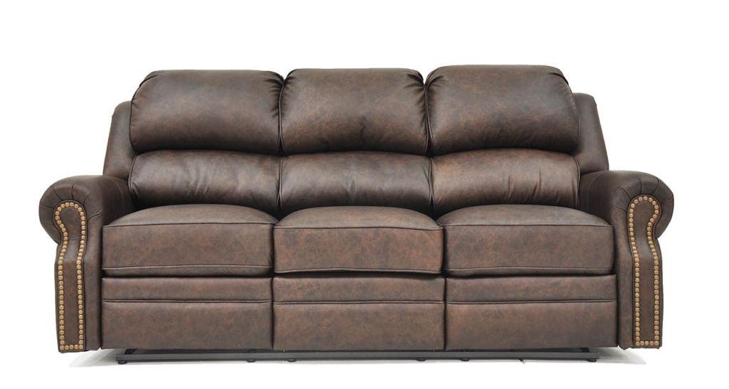 San Juan Reclining Sofa in dark brown leather