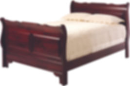Elegant Amish Sleigh Bed