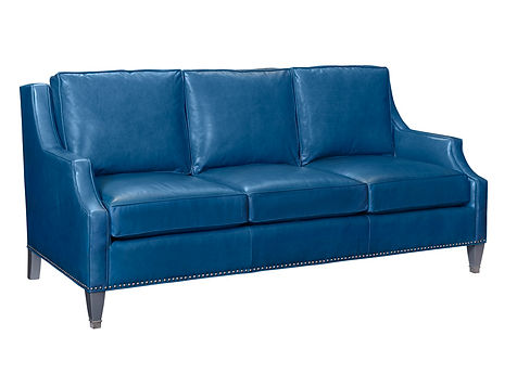 harpo blue leather sofa