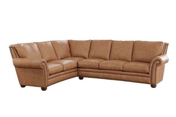 Kaymus Sectional in Saloon Leather