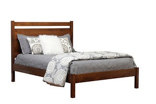 HIH056QN Panel Bed Brown Maple Michaels.