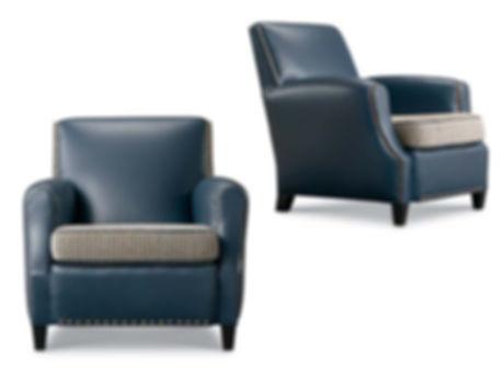 Saratoga Blue Arm Chair