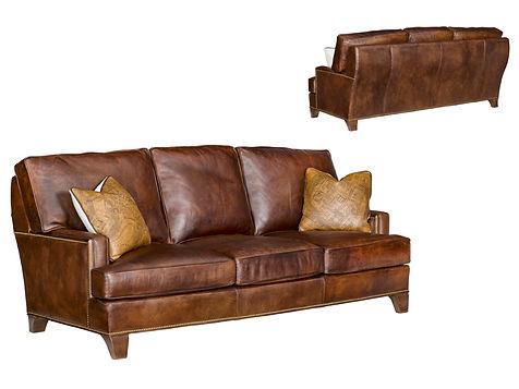 Waco Custom Leather Sofa