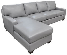 Albany Sofa-Chaise Romance Lt Grey Angle