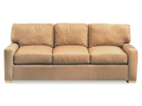 Manhattan custom leather sofa