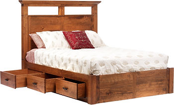 Custom Amish Storage Bed