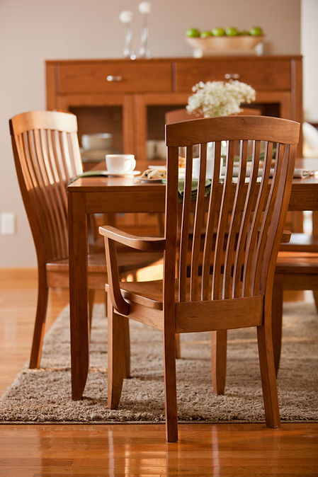 Solid cherry Justine dining set by Simply Amish