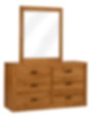 MFG260DR Dresser wMirror Brown Maple S14