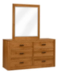 MFG260DR Dresser wMirror Brown Maple S14