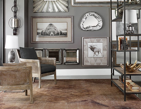 Uttermost room view with wall art