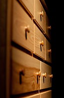 close up of our solid wood bedroom furniture