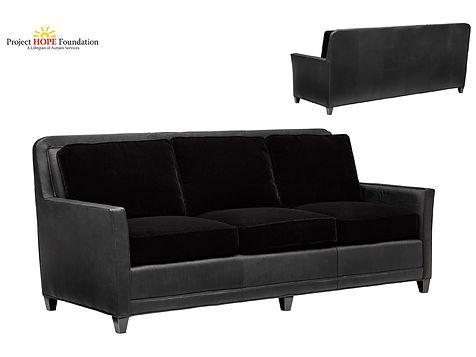 Laurie Custom Leather Sofa