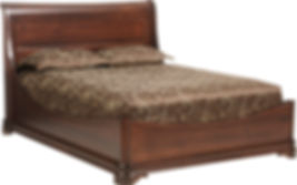 Solid Cherry Amish Bed Frame