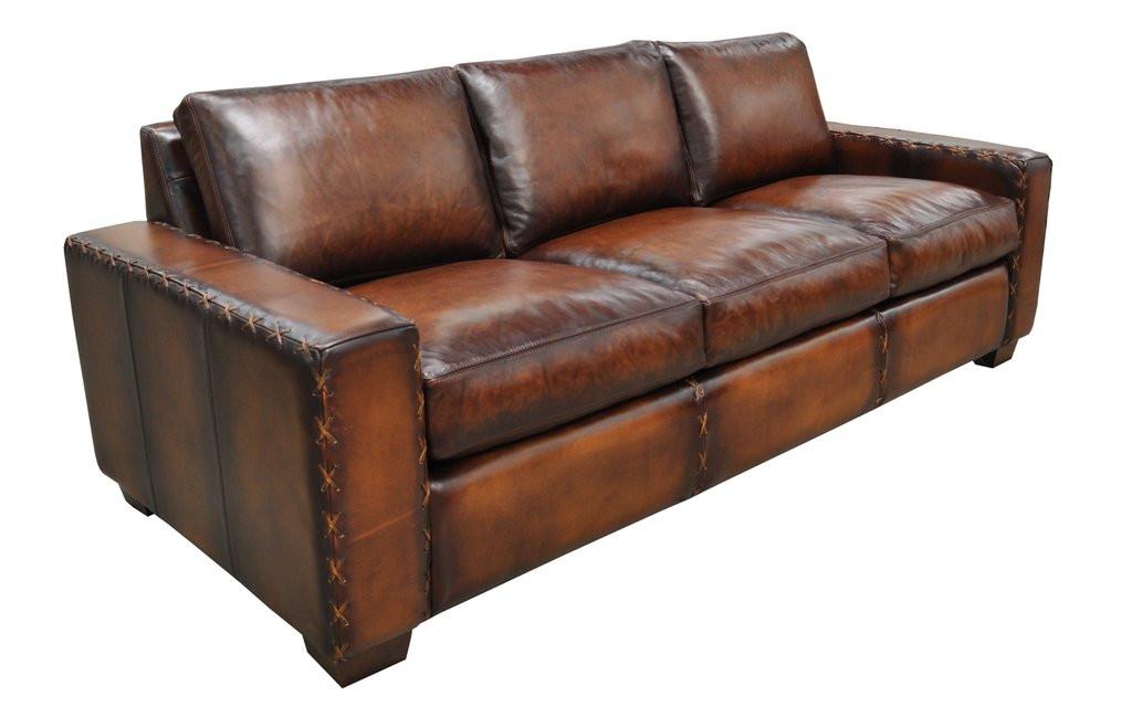 Breckenridge Sofa in hand-rubbed leather