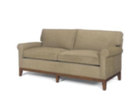 Brennan Sofa with wood trim