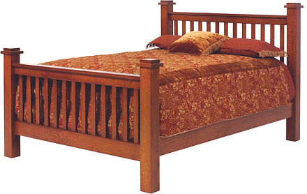 Mission Style Amish Bed