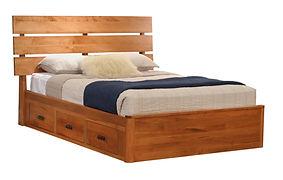 GAG256QN Slat Platform Bed Brown Maple S