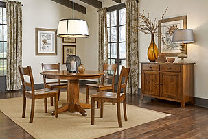 Round Cherry Dining Table
