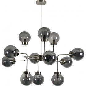 modern smoked glass chandelier