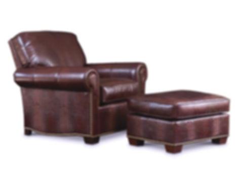 Robinson Chair Ottoman Leathercraft