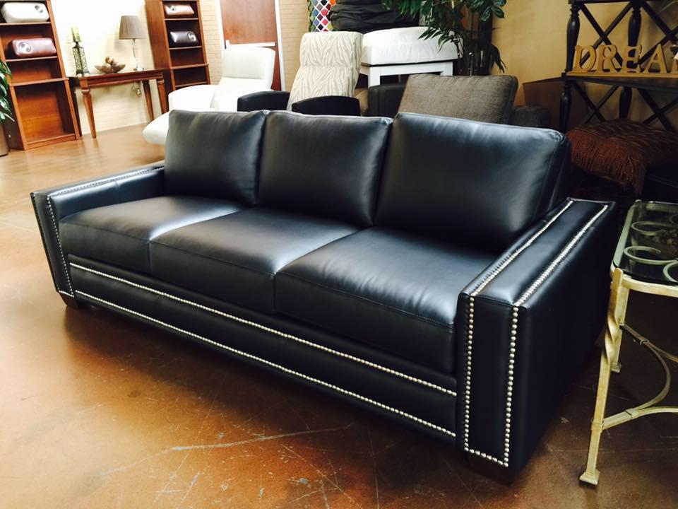 Ashton Sofa in Black Leather