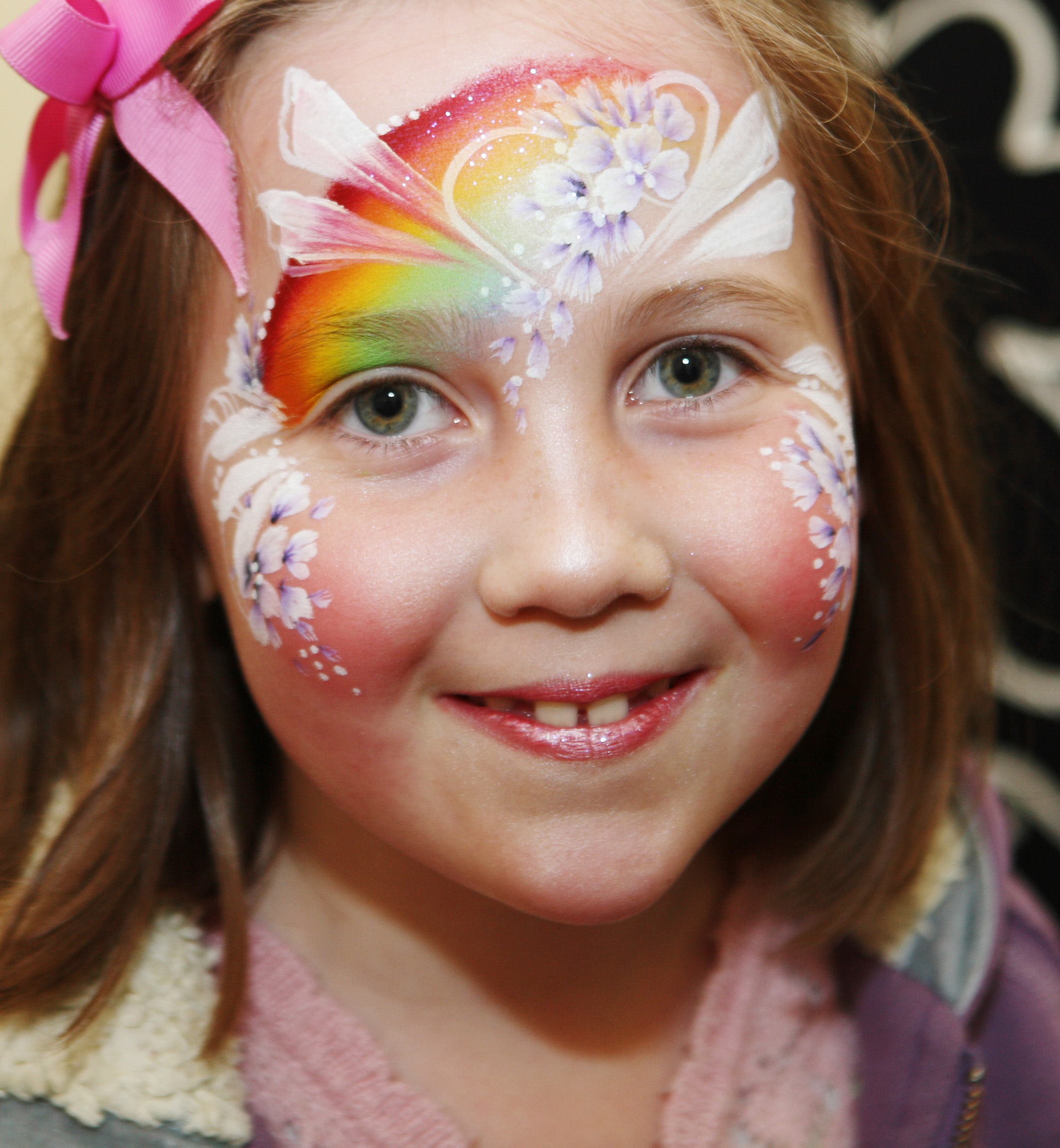 Rainbow Fairy Face Painting