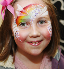 Rainbow Fairy Face Painting
