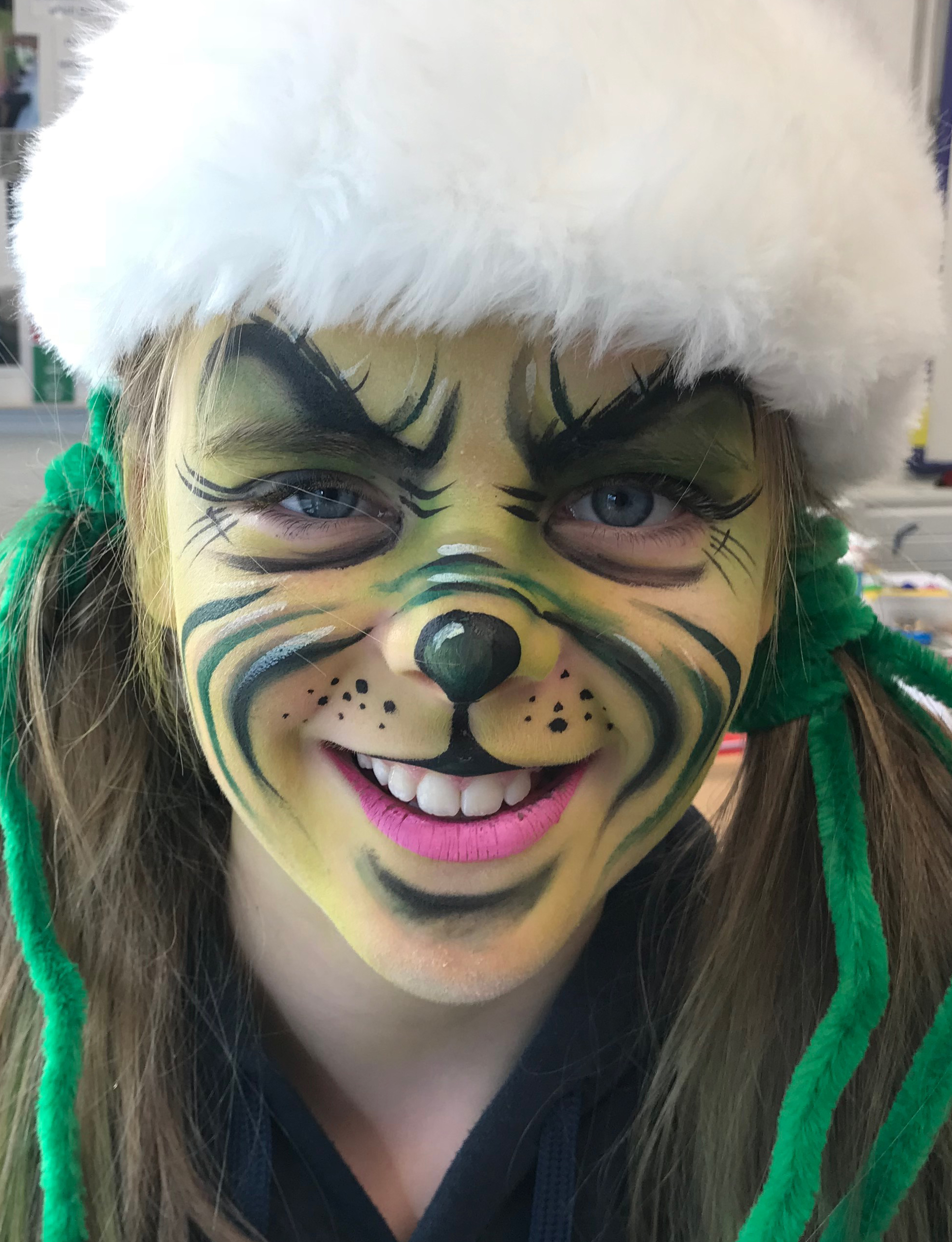 Grinch Face Paint