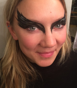 Black Swan Face Paint