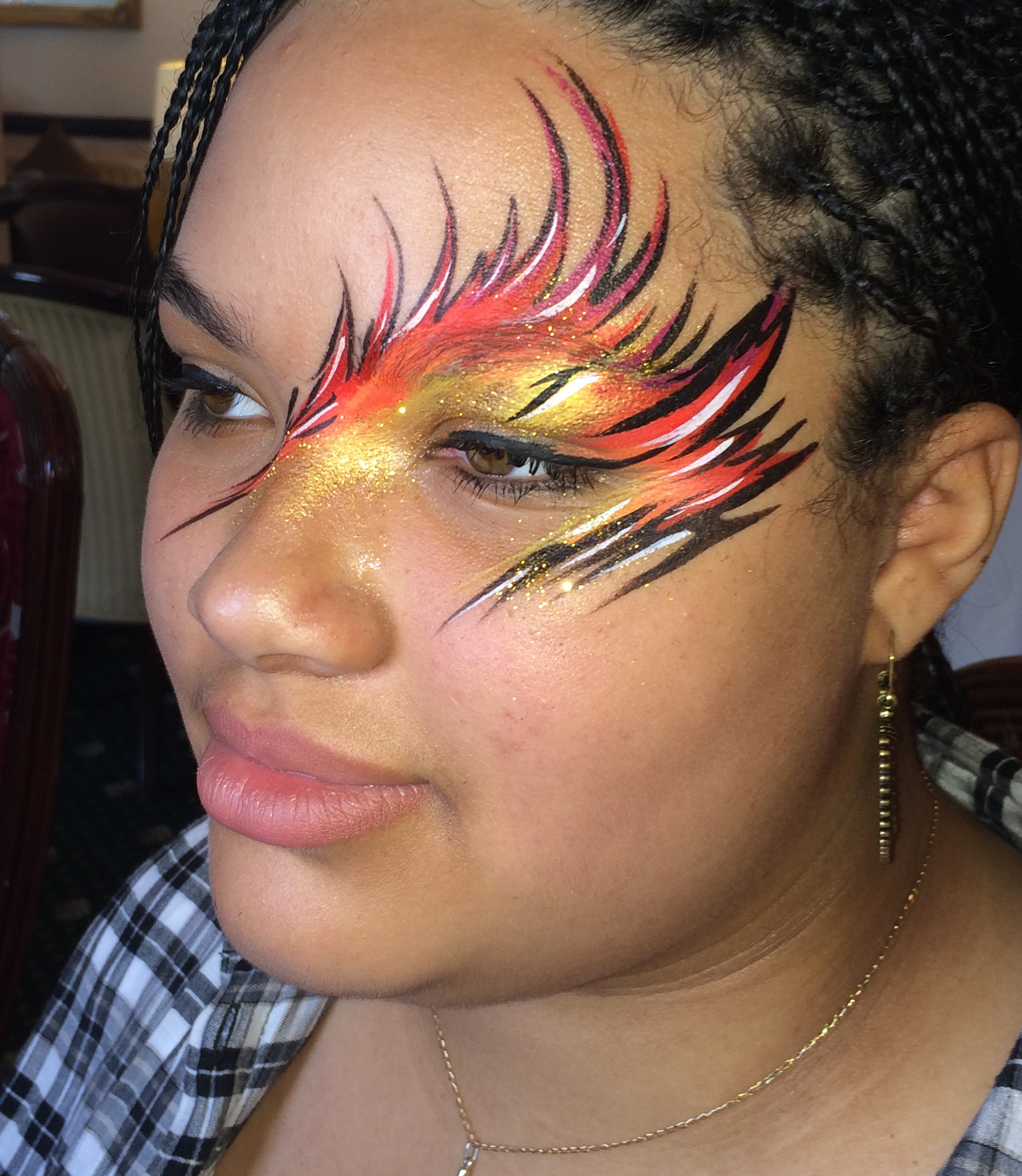 Fire Face Paint