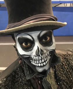 Scary Skull Face Paint
