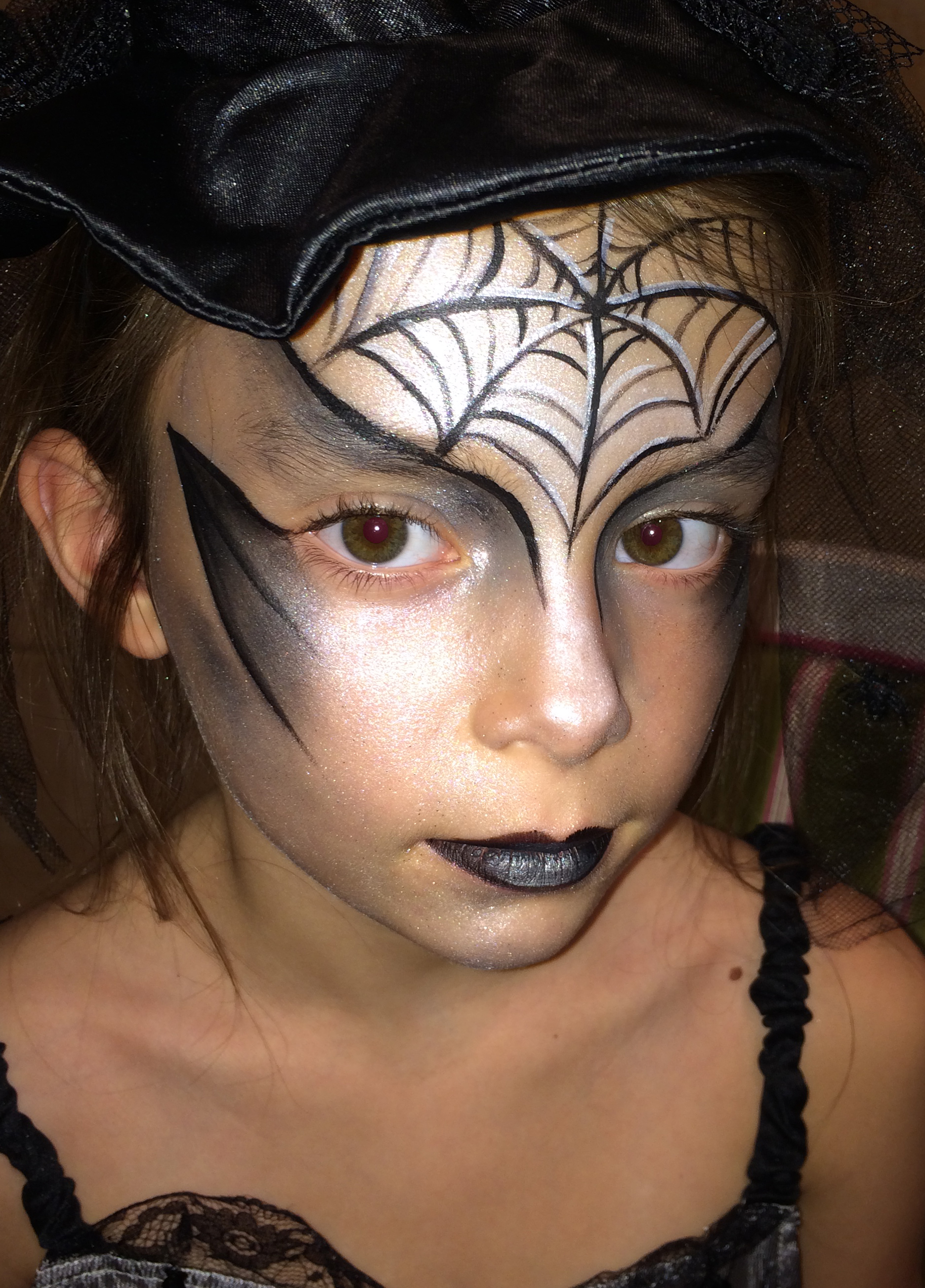 Spiderweb Face paint