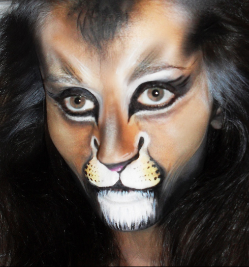 Lion Face Painting