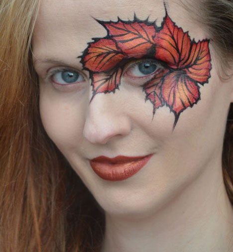 Autumn Leaves Face Paint