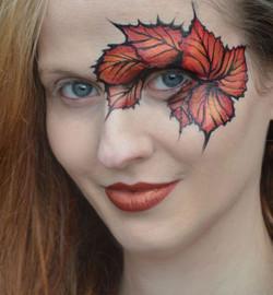 Autumn Leaves Face Paint