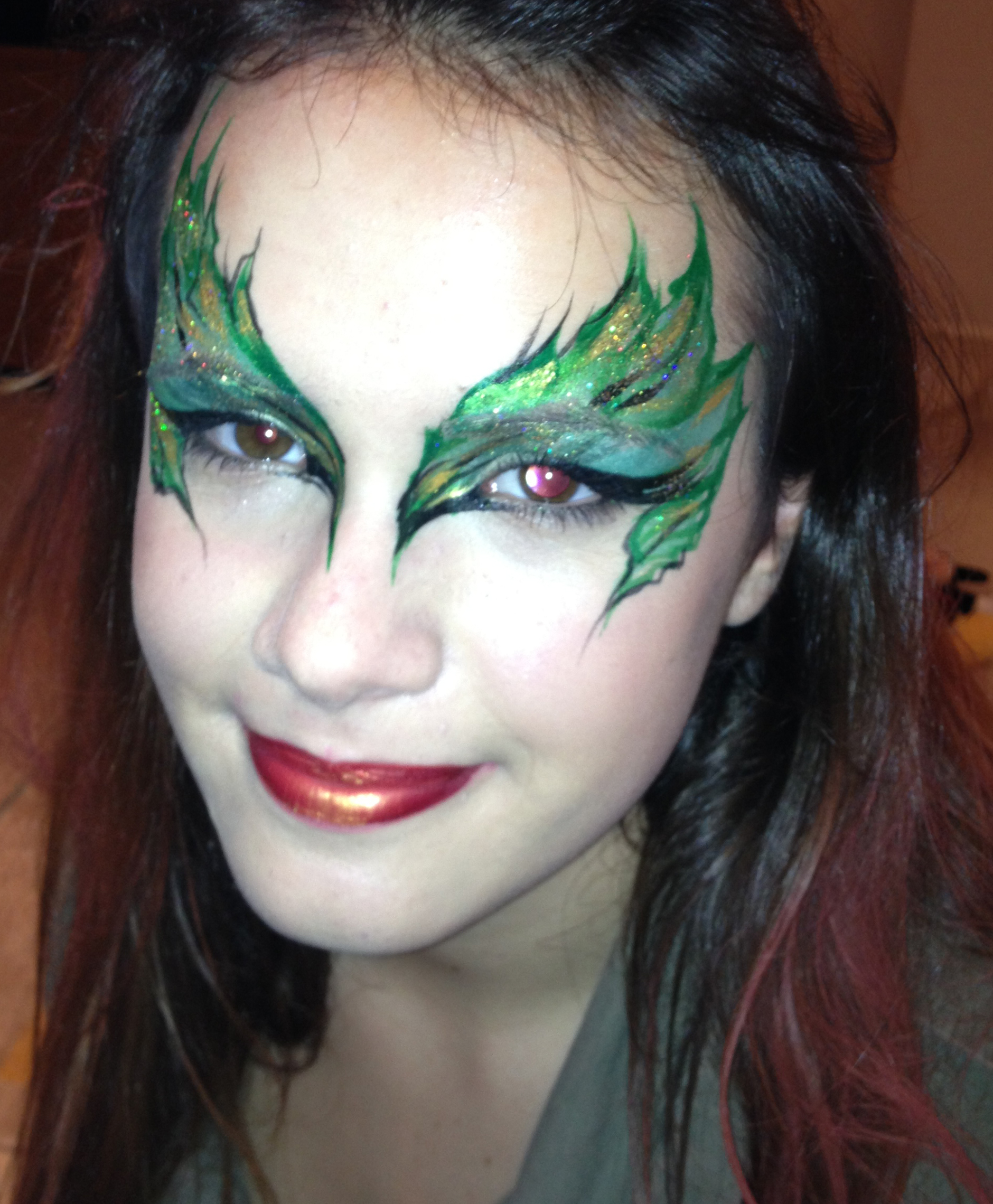 Leaves Face Painting