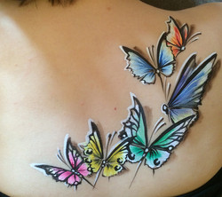 Painted Butterfly Tattoos