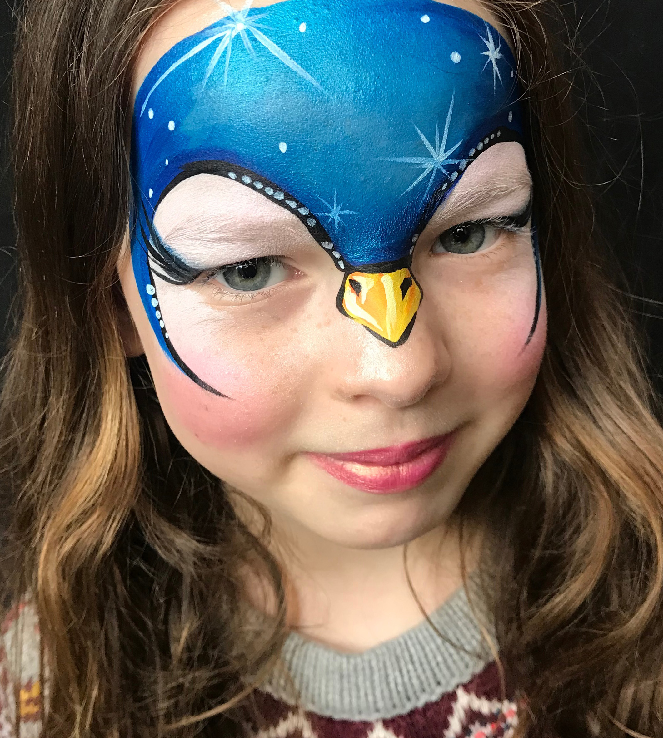 Penguin Face Paint