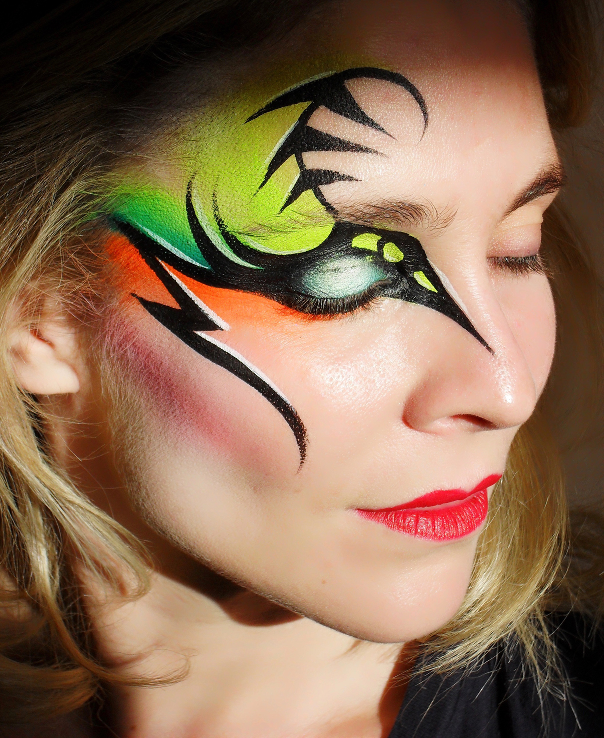 Neon Face Painting