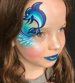 Dolphin Face Paint