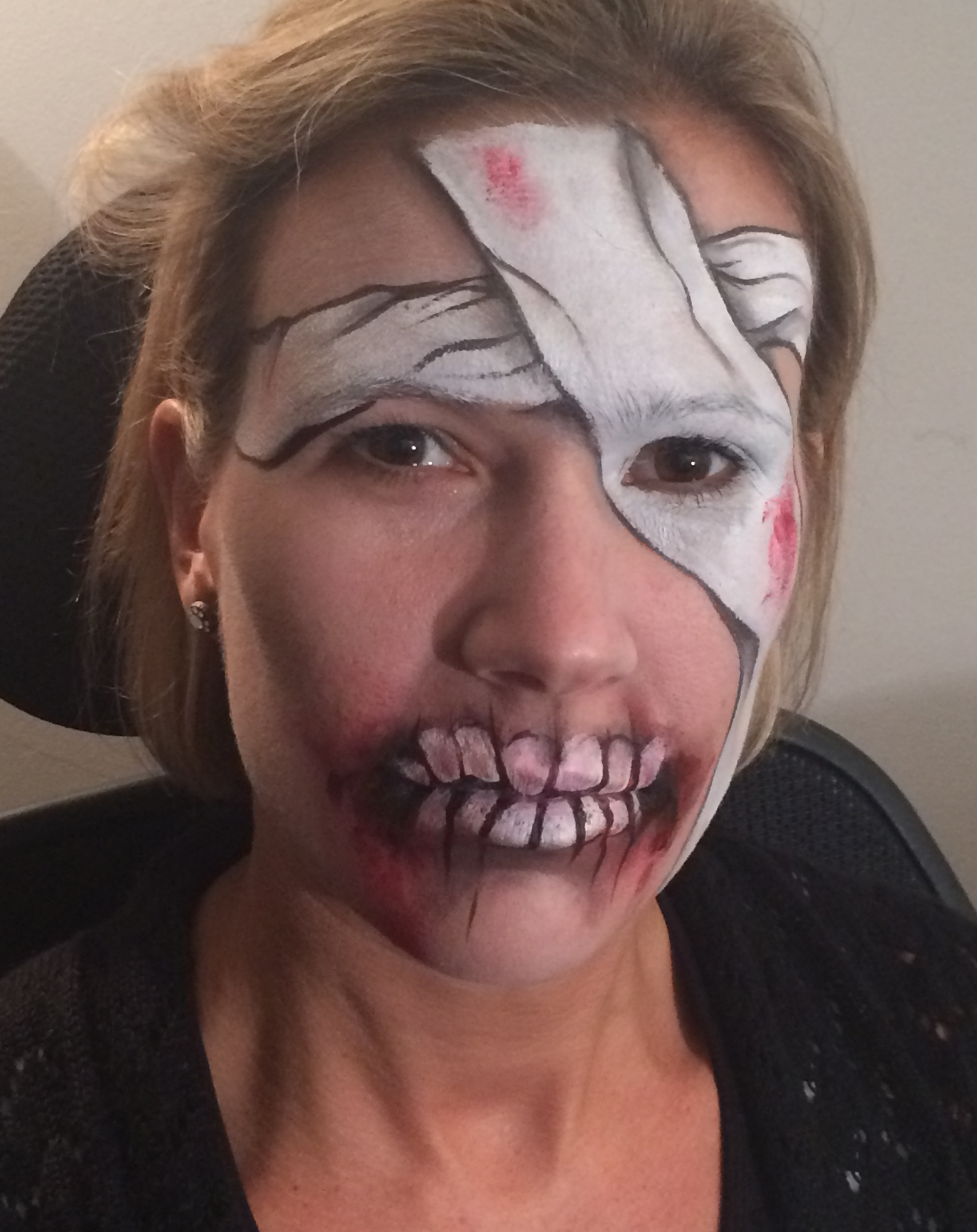 Halloween Mummy Face Paint