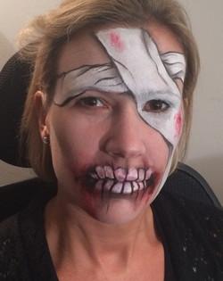 Halloween Mummy Face Paint